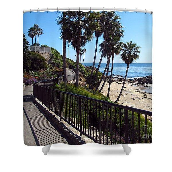 Beach Walkway Shower Curtain