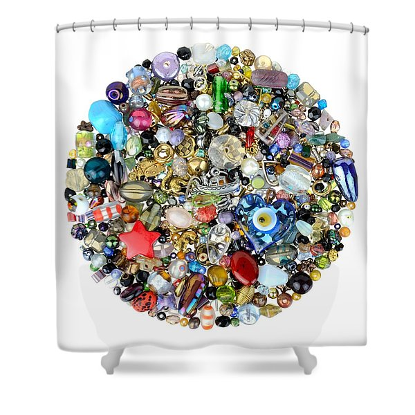 Beads And Charms Shower Curtain