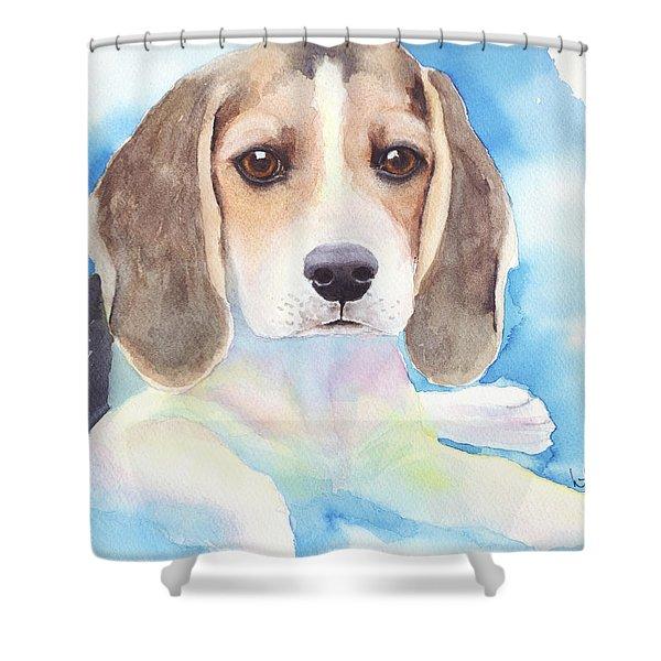 Beagle Baby Shower Curtain