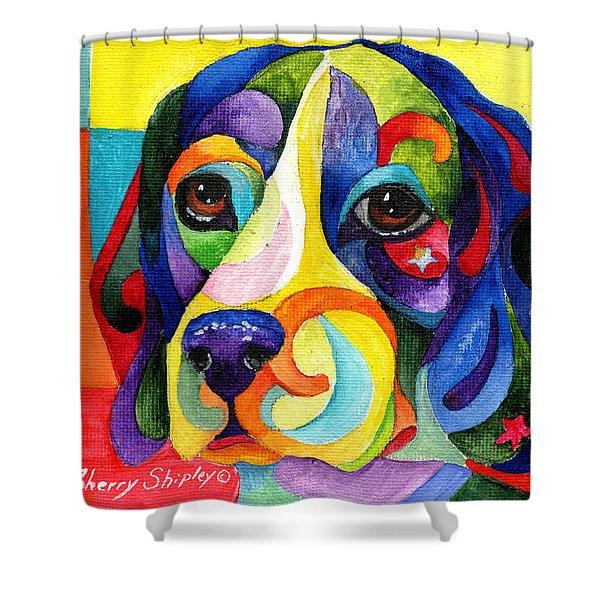 Beagle Shower Curtain