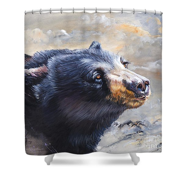 Four Winds Bear Shower Curtain
