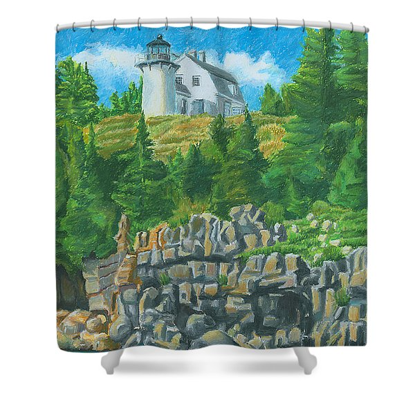 Bear Island Lighthouse Shower Curtain