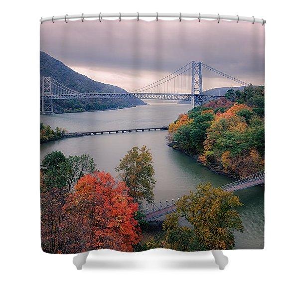 Bear Mountain Bridge Shower Curtain