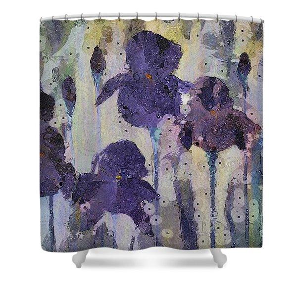 Bearded Irises Shower Curtain