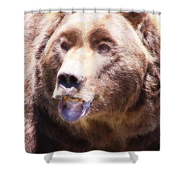 Bearing My Teeth Shower Curtain