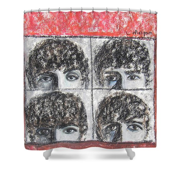 Beatles Hard Day's Night Shower Curtain