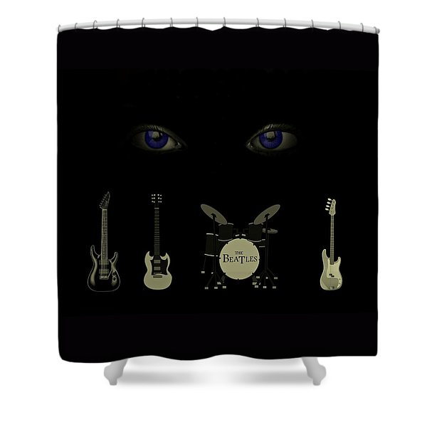 Beatles Something Shower Curtain
