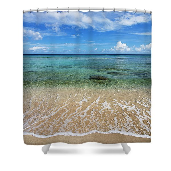 Beautiful And Calm Cane Bay  St. Croix Shower Curtain