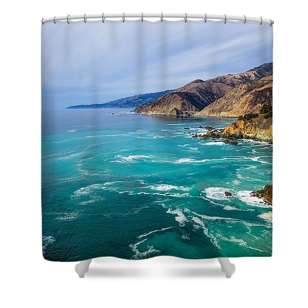 Beautiful Big Sur With Bixby Bridge Shower Curtain