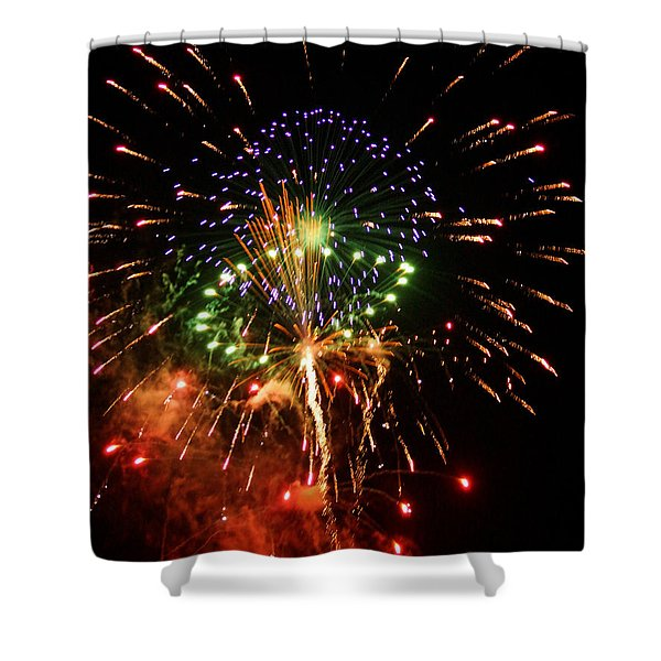 Beautiful Fireworks Works Shower Curtain