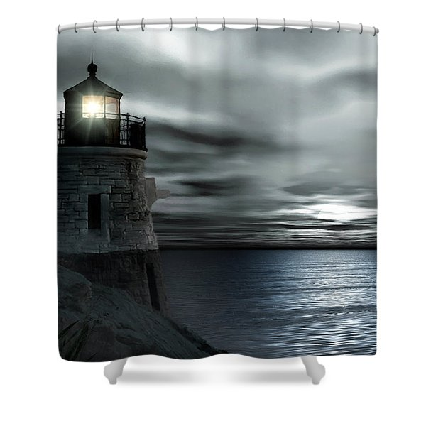 Beautiful Light In The Night Shower Curtain