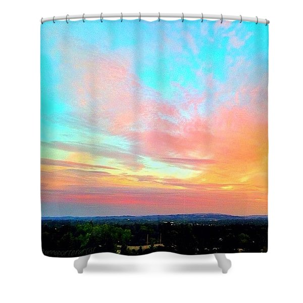 Beautiful Sunset This Evening From 9 Shower Curtain