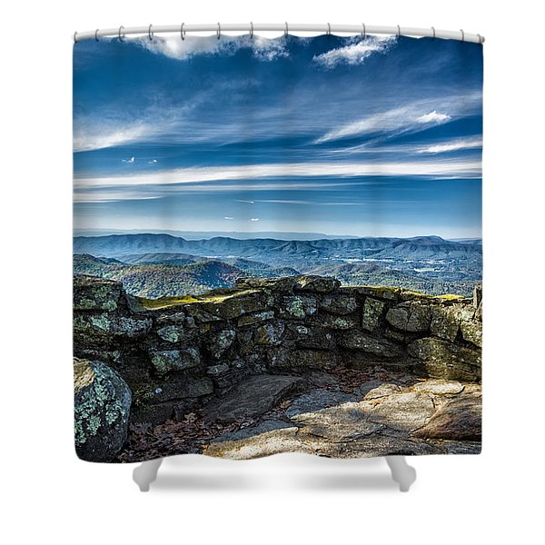 Beautiful View Of Mountains And Sky Shower Curtain