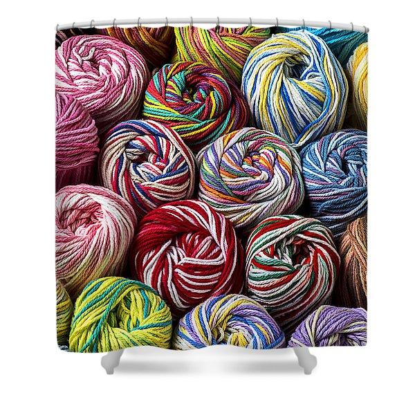 Beautiful Yarn Shower Curtain