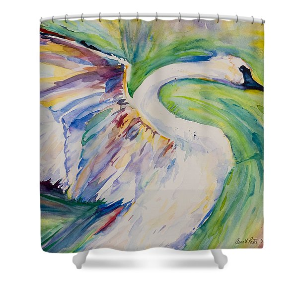 Beauty And Grace - Original Watercolor Painting Shower Curtain