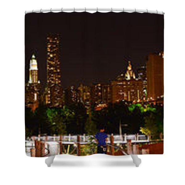 Beauty From Brooklyn Bridge Park Shower Curtain