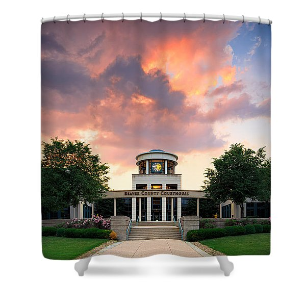 Beaver County Courthouse Shower Curtain