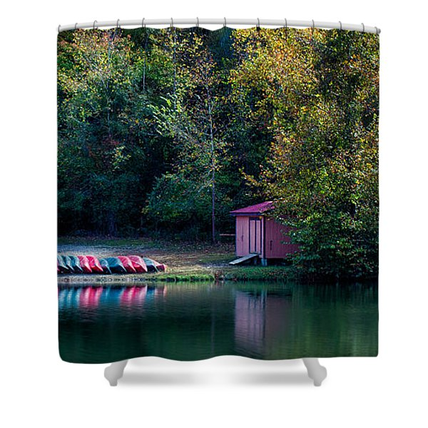 Beavers Bend Reflection Shower Curtain