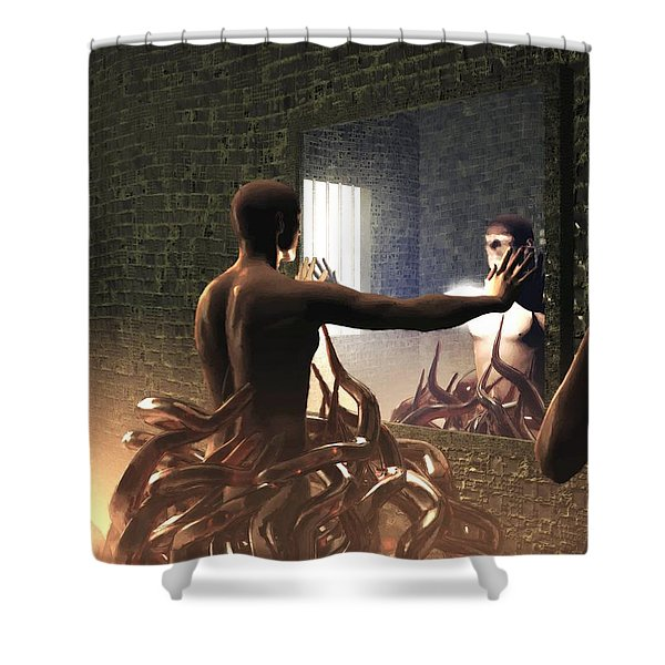 Becoming Disturbed Shower Curtain