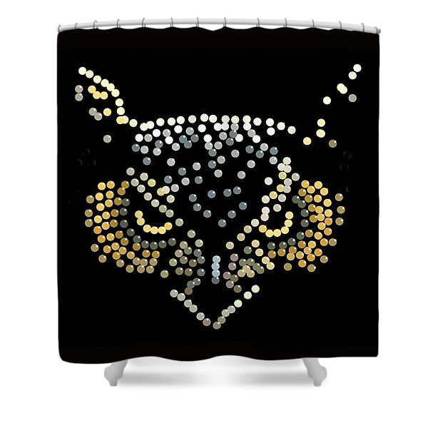 Bedazzled Owl Shower Curtain