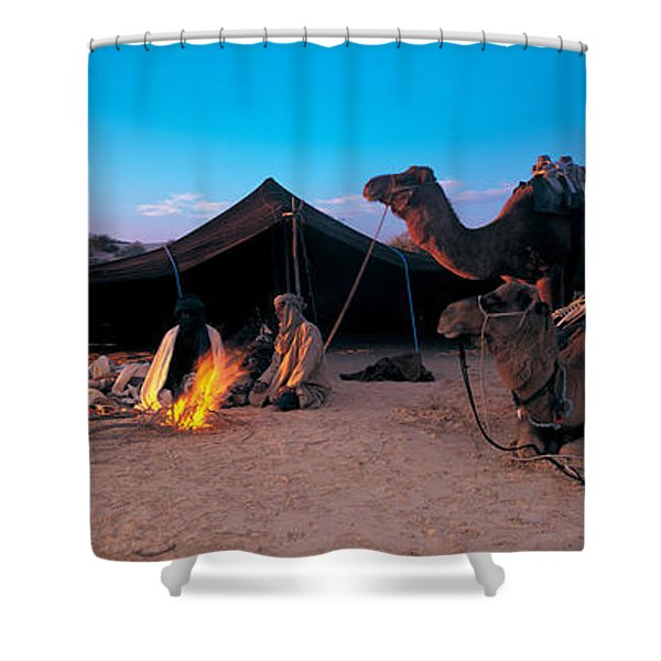 Bedouin Camp, Tunisia, Africa Shower Curtain