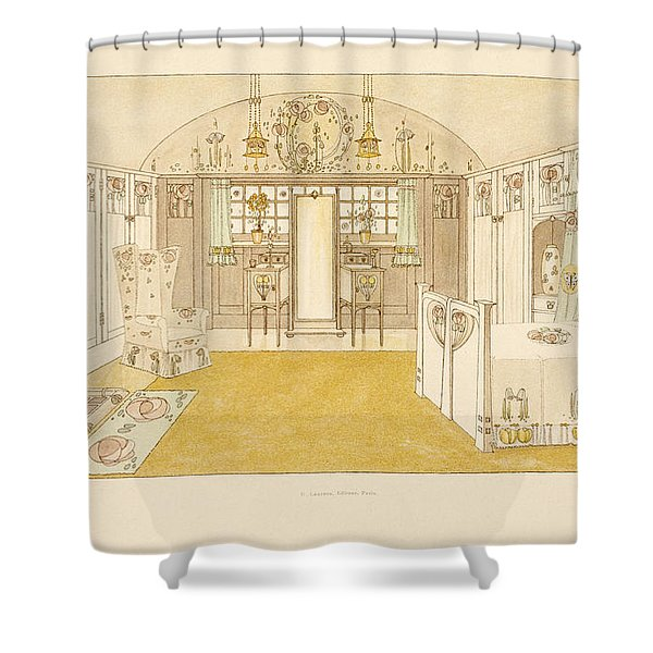 Bedroom, Logan George Shower Curtain