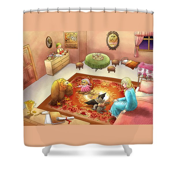 Bedtime For Tammy Shower Curtain