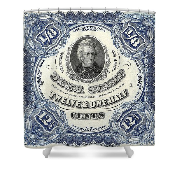 Beer Tax Stamp Shower Curtain