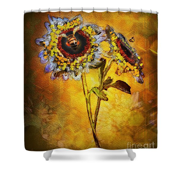 Bees To Honey Shower Curtain
