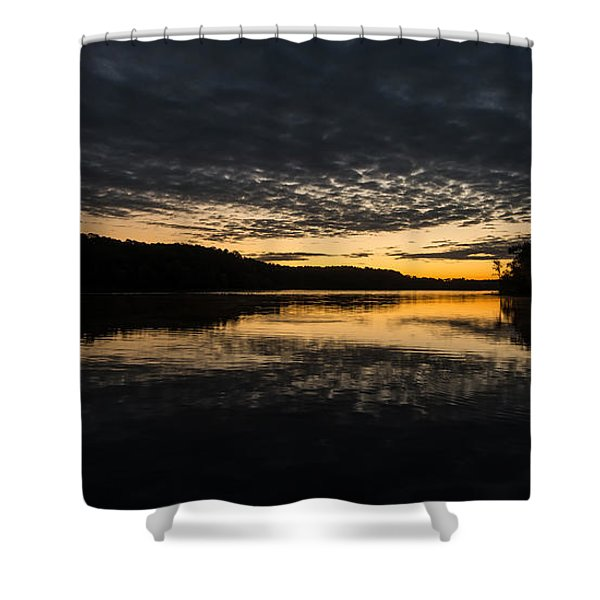 Before Sunrise At The Lake Shower Curtain