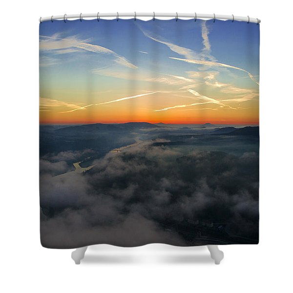 Before Sunrise On The Lilienstein Shower Curtain
