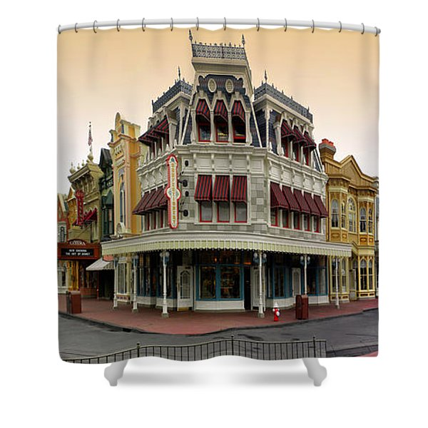 Before The Gates Open Magic Kingdom Main Street. Shower Curtain