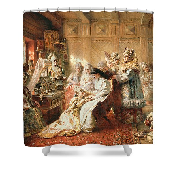 Before The Wedding, 1890 Oil On Canvas Shower Curtain