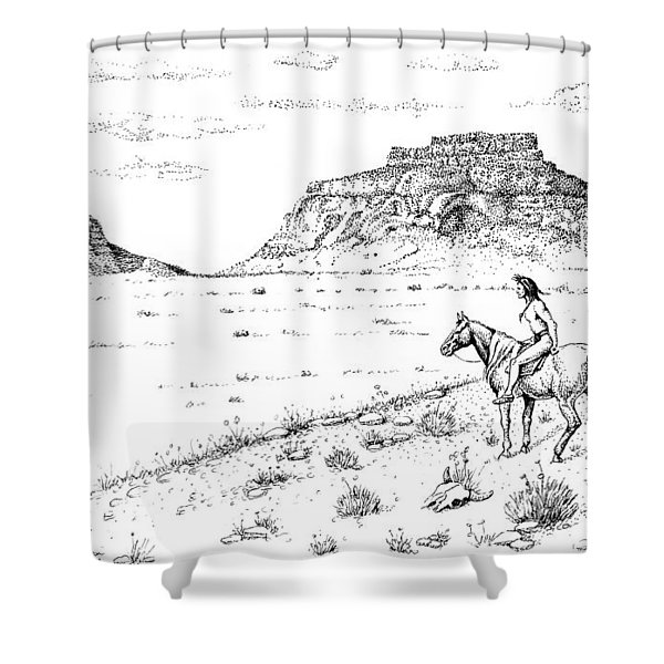 Open Prairie Overlook Shower Curtain
