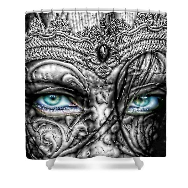 Behind Blue Eyes Shower Curtain