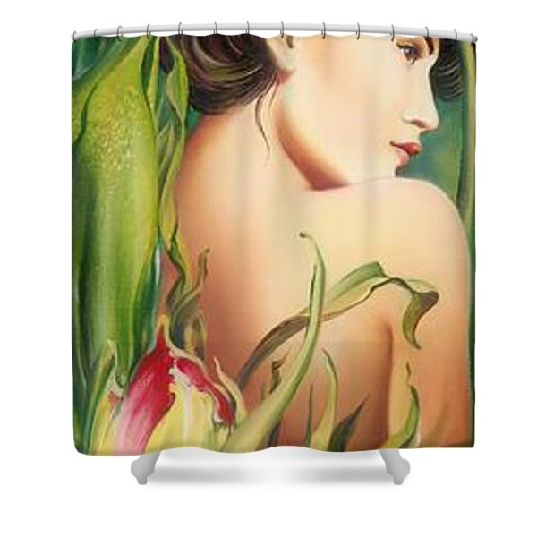 Behind The Curtain Of Colours -the Tulip Shower Curtain
