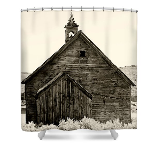 Behind The Steeple By Diana Sainz Shower Curtain