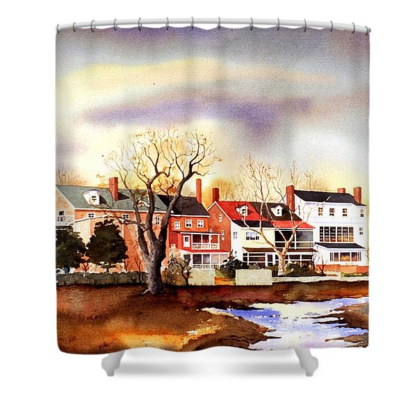 Behind The Strand In New Castle Shower Curtain