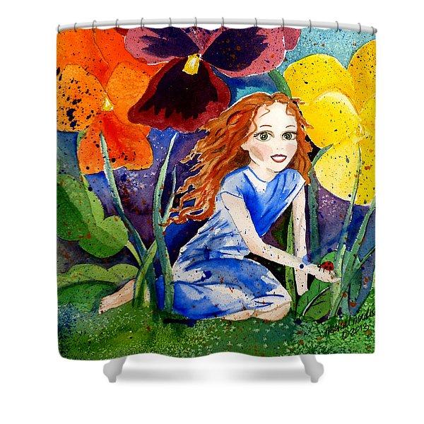 Tiny Flower Fairy Shower Curtain