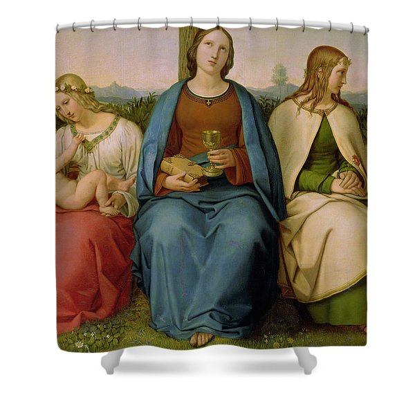 Belief Hope And Love Shower Curtain