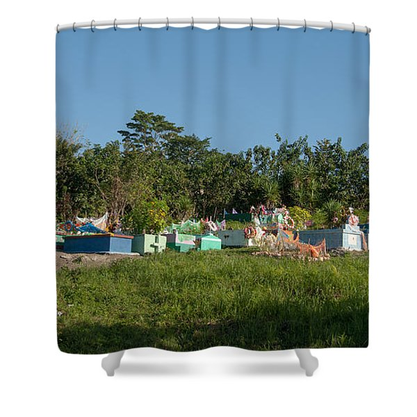 Belize Cemetery Shower Curtain