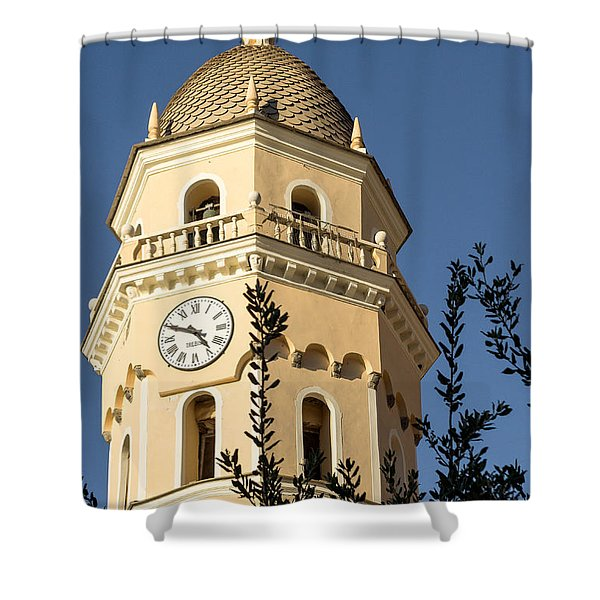 Bell Tower Of Vernazza Shower Curtain