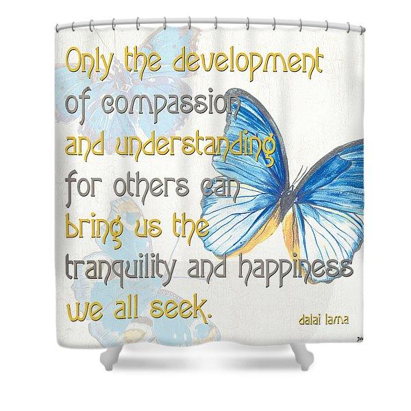 Bella Butterflies 1 Shower Curtain