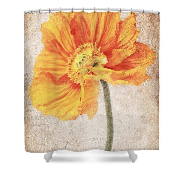Bella Orange Shower Curtain