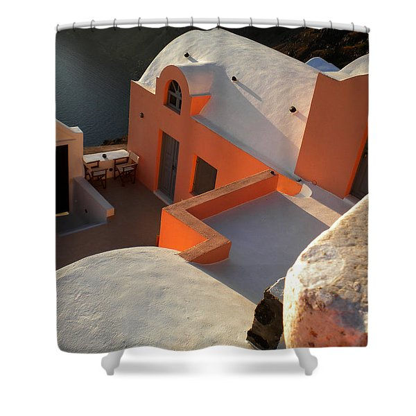 Bella Santorini Hause Shower Curtain