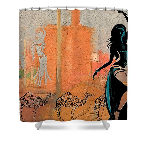 Abstract Belly Dancer 11 Shower Curtain