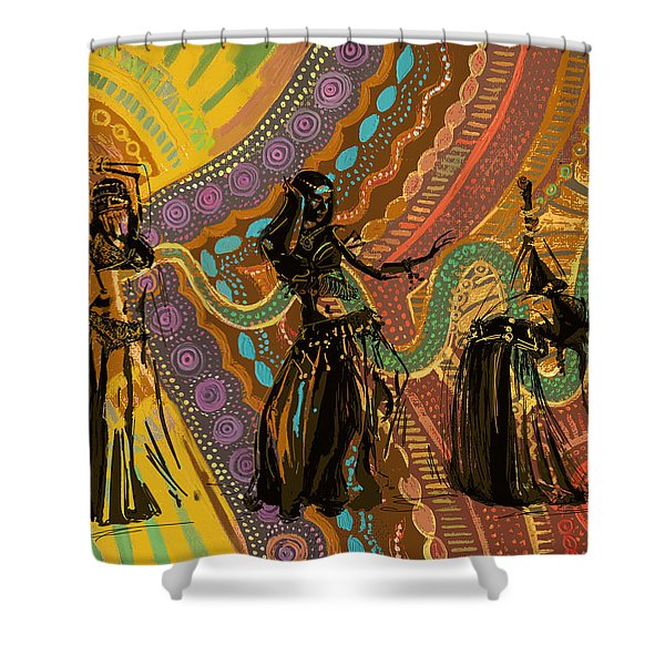 Belly Dancer Motifs And Patterns Shower Curtain