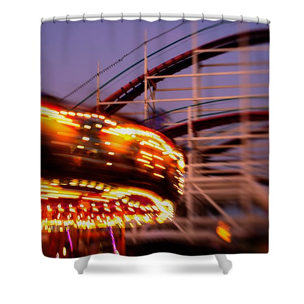 Did I Dream It Belmont Park Rollercoaster Shower Curtain
