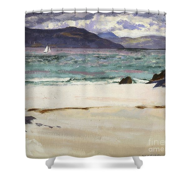 Ben Bhuie From The North End   Iona Shower Curtain