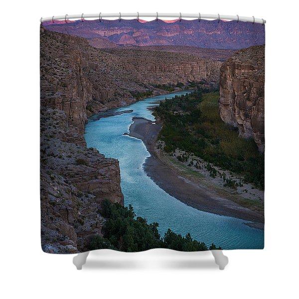 Bend In The Rio Grande Shower Curtain